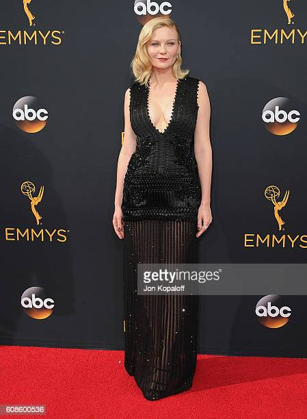 Actress Kirsten Dunst arrives at the 68th Annual Primetime Emmy Awards at Microsoft Theater on September 18 2016 in Los Angeles California