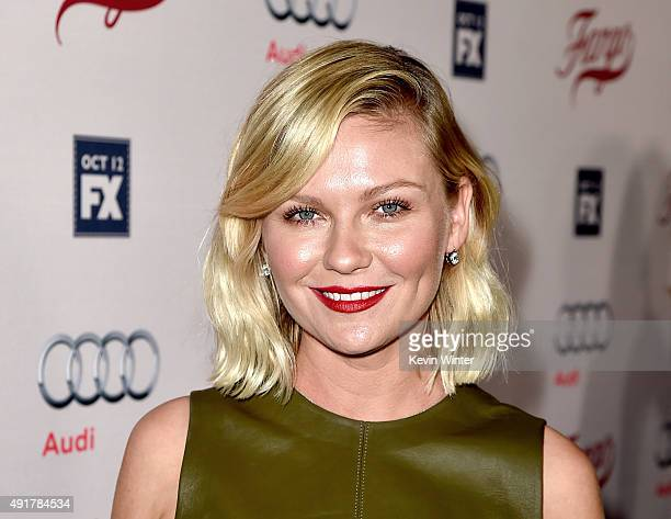 Actress Kirsten Dunst arrives at the premiere of FX's 'Fargo' Season 2 at the Arclight Theatre on October 7 2015 in Los Angeles California