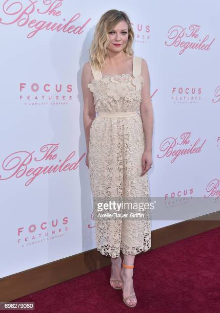 Actress Kirsten Dunst arrives at the US Premiere of 'The Beguiled' at Directors Guild of America on June 12 2017 in Los Angeles California
