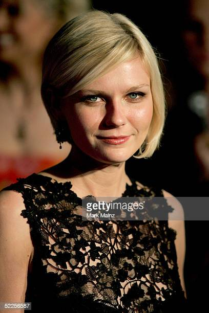 Actress Kirsten Dunst arrives at the Vanity Fair Oscar Party at Mortons on February 27 2005 in West Hollywood California