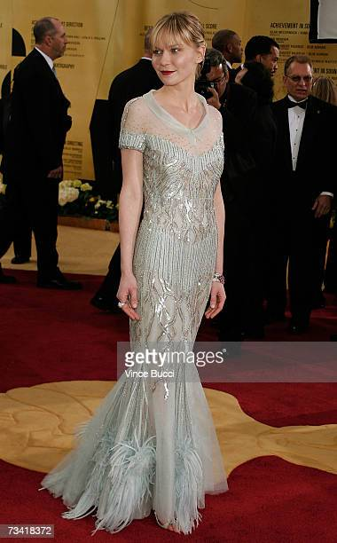 Actress Kirsten Dunst attend the 79th Annual Academy Awards held at the Kodak Theatre on February 25, 2007 in Hollywood, California.
