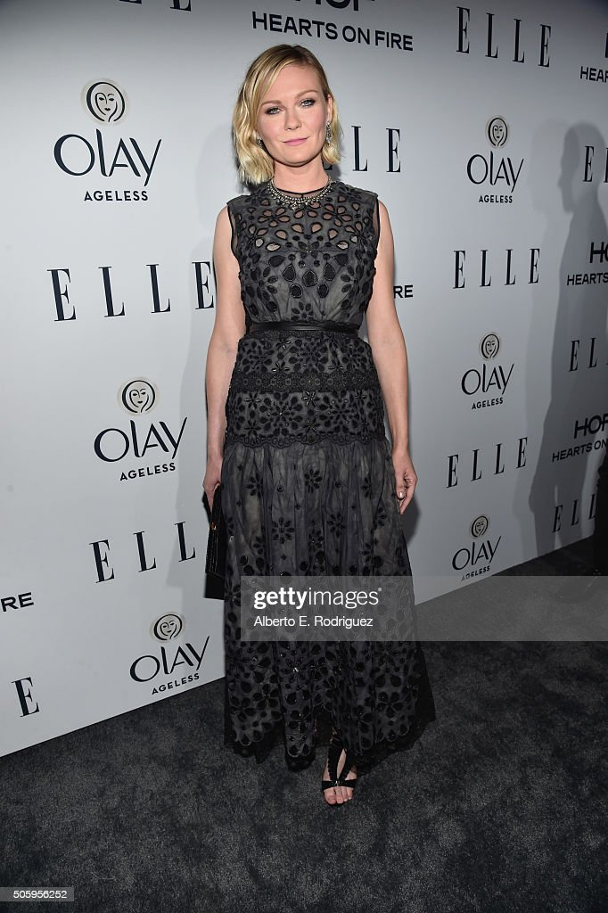 Actress Kirsten Dunst attends ELLE's 6th Annual Women in Television Dinner Presented by Hearts on Fire Diamonds and Olay at Sunset Tower on January 20, 2016 in West Hollywood, California.