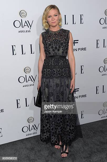 Actress Kirsten Dunst attends ELLE's 6th Annual Women in Television Dinner Presented by Hearts on Fire Diamonds and Olay at Sunset Tower on January...