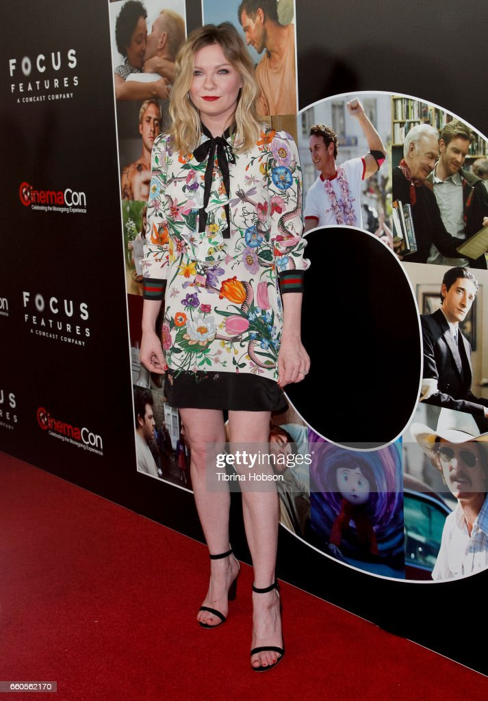 Actress Kirsten Dunst attends Focus Features luncheon and studio program celebrating 15 Years during CinemaCon 2017 at Caesars Palaceon March 29, 2017 in Las Vegas, Nevada.