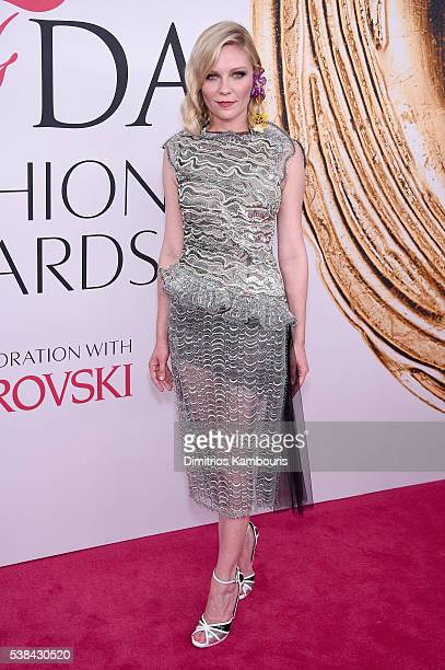 Actress Kirsten Dunst attends the 2016 CFDA Fashion Awards at the Hammerstein Ballroom on June 6, 2016 in New York City.