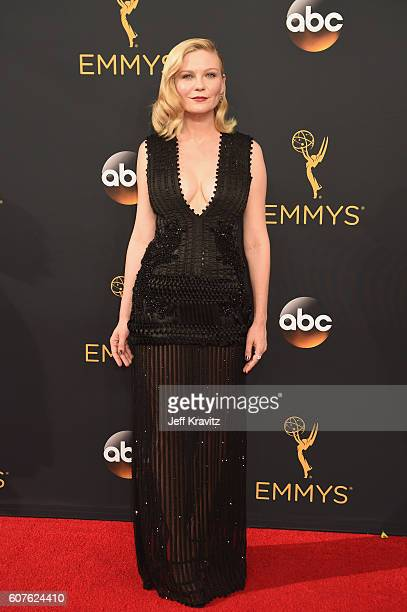 Actress Kirsten Dunst attends the 68th Annual Primetime Emmy Awards at Microsoft Theater on September 18, 2016 in Los Angeles, California.