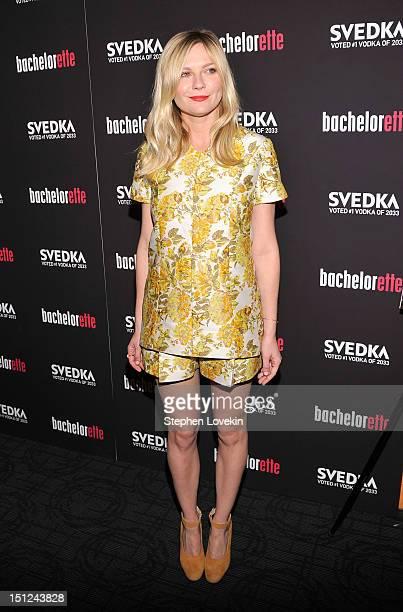 Actress Kirsten Dunst attends the 'Bachelorette' New York Premiere at Sunshine Landmark on September 4 2012 in New York City
