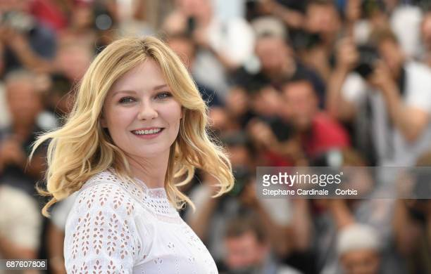 Actress Kirsten Dunst attends The Beguiled photocall during the 70th annual Cannes Film Festival at Palais des Festivals on May 24 2017 in Cannes...