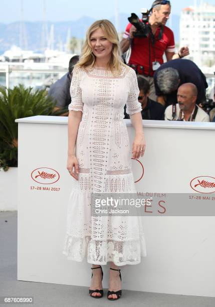 Actress Kirsten Dunst attends 'The Beguiled' photocall during the 70th annual Cannes Film Festival at Palais des Festivals on May 24 2017 in Cannes...