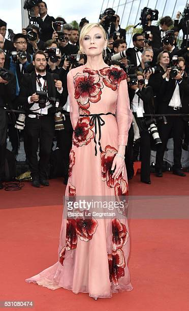 Actress Kirsten Dunst attends the 'Cafe Society' premiere and the Opening Night Gala during the 69th annual Cannes Film Festival at the Palais des...
