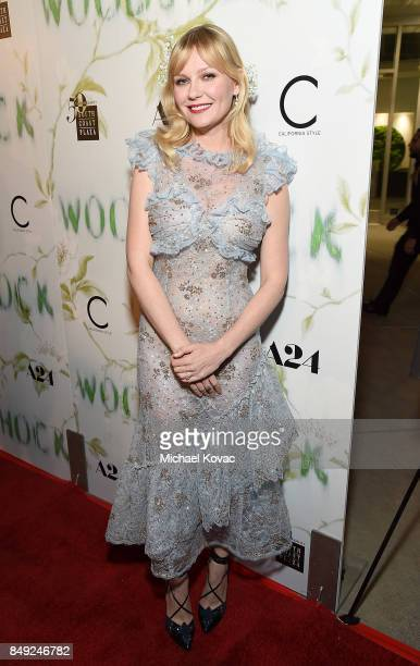 Actress Kirsten Dunst attends the Los Angeles premiere of 'WoodShock' at ArcLight Cinemas on September 18 2017 in Hollywood California