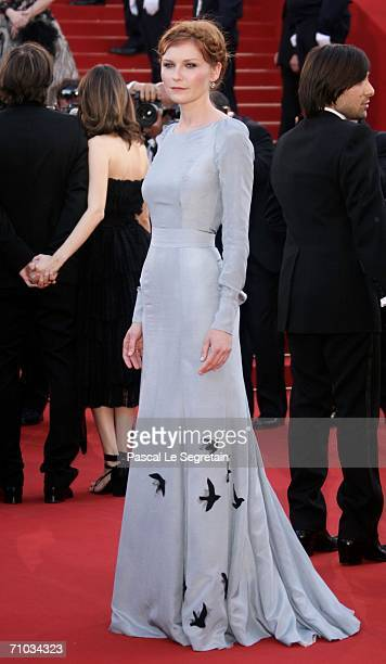 US actress Kirsten Dunst attends the 'Marie Antoinette' premiere at the Palais des Festivals during the 59th International Cannes Film Festival May...