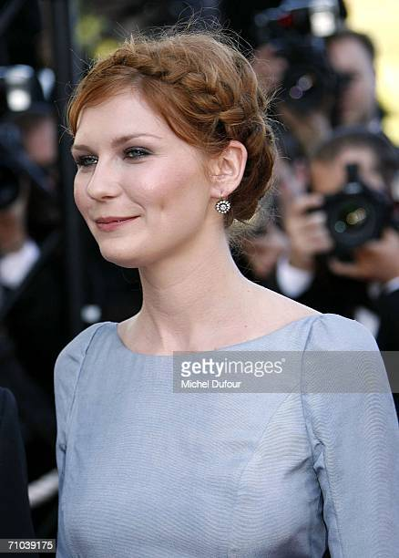 Actress Kirsten Dunst attends the 'Marie Antoinette' premiere at the Palais des Festivals during the 59th International Cannes Film Festival May 24...