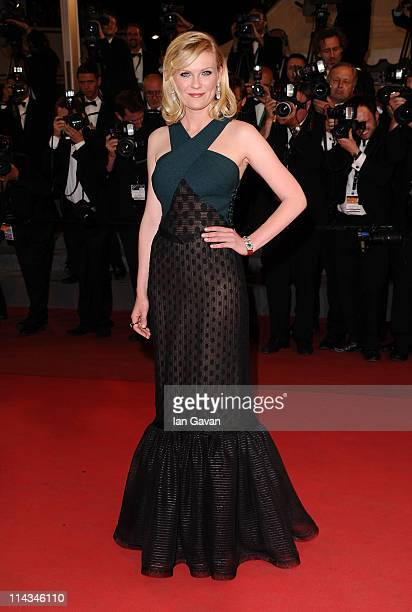 Actress Kirsten Dunst attends the Melancholia premiere during the 64th Annual Cannes Film Festival at Palais des Festivals on May 18 2011 in Cannes...
