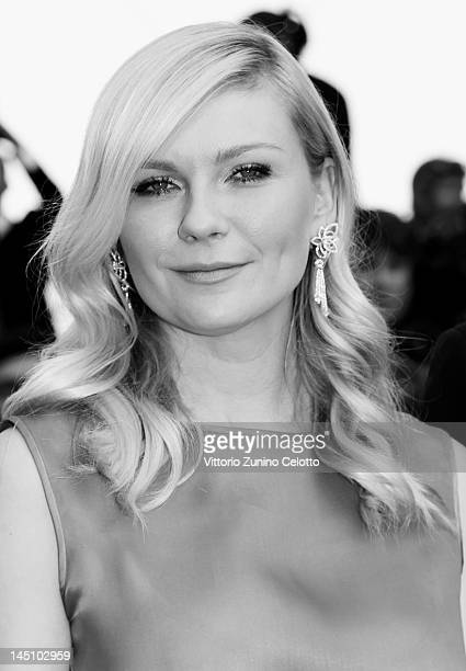 Actress Kirsten Dunst attends the On The Road Premiere during the 65th Annual Cannes Film Festival at Palais des Festivals on May 23 2012 in Cannes...