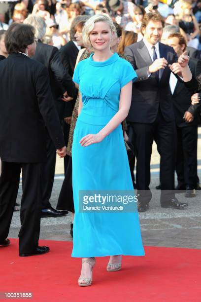 Actress Kirsten Dunst attends the Palme d'Or Closing Ceremony held at the Palais des Festivals during the 63rd Annual International Cannes Film...