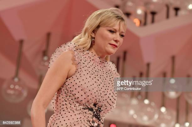Actress Kirsten Dunst attends the premiere of the movie 'Woodshock' presented in the 'Cinema nel Giardino' selection at the 74th Venice Film Festival...