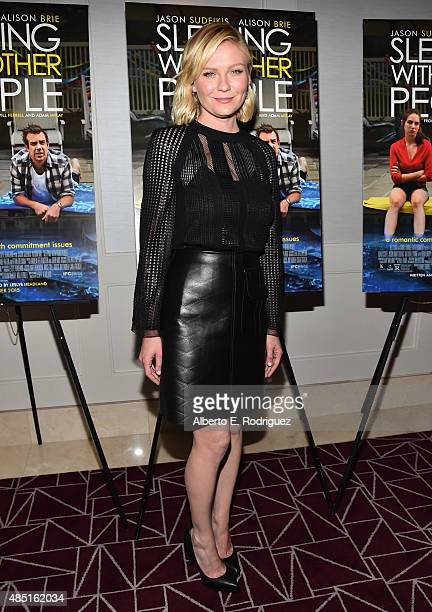 Actress Kirsten Dunst attends the Tastemaker screening of IFC Films' Sleeping With Other People on August 24 2015 in Los Angeles California