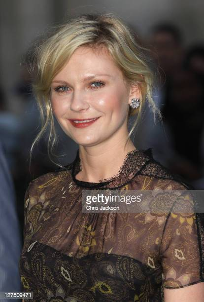Actress Kirsten Dunst attends the UK premiere of Melancholia at The Curzon Mayfair on September 28 2011 in London England