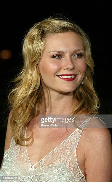 Actress Kirsten Dunst attends the world premiere of the Universal Feature Wimbledon at the Academy of Motion Pictures Arts and Sciences on September...