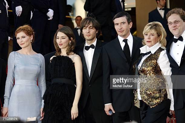 Actress Kirsten Dunst director Sofia Coppola her companion Phoenix singer Thomas Mars British actor Steve Coogan singer Marianne Faithfull and...
