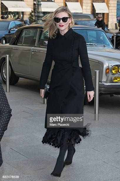Actress Kirsten Dunst is seen on January 23 2017 in Paris France