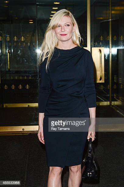 Actress Kirsten Dunst leaves the Today Show taping at the NBC Rockefeller Center Studios on September 16 2014 in New York City