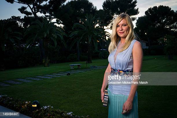 Actress Kirsten Dunst photographed at the amfAR Cinema Against AIDS gala, for Paris Match on May 24 in Cap d'Antibes, France.