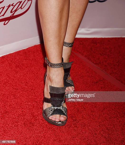 Actress Kirsten Dunst shoe detail at the premiere of FX's 'Fargo' Season 2 held at ArcLight Cinemas on October 7 2015 in Hollywood California