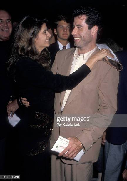 Actress Kirstey Alley and actor John Travolta attend the Look Who's Talking Beverly Hills Premiere on October 12 1989 at the Academy of Motion...