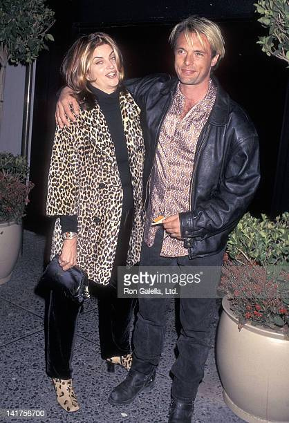 Actress Kirstie Alley and actor James Wilder attend the First Annual Hollywood Film Festival Allie Me Screening on October 17 1997 at the Alfred...