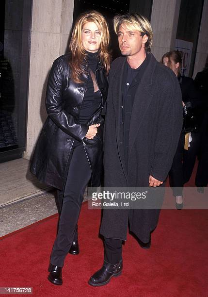 Actress Kirstie Alley and actor James Wilder attend the Deconstructing Harry Century City Premiere on December 5 1997 at the Cineplex Odeon Century...