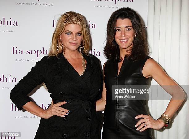 Actress Kirstie Alley and Executive Director of Lia sophia Elena Kiam attend lia sophia celebrates 'Social Fashion' and debuts 'boudika' Red Carpet...