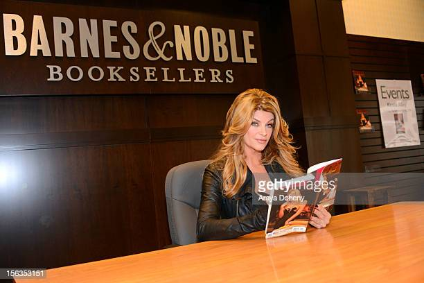 Actress Kirstie Alley attends a signing for her book 'The Art of Men' at Barnes Noble bookstore at The Grove on November 11 2012 in Los Angeles...