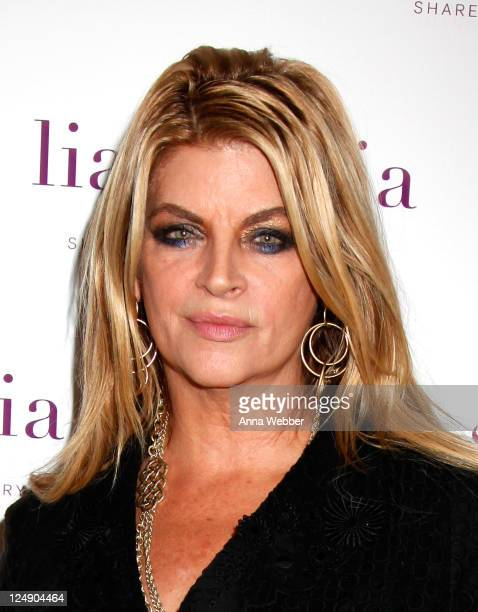 Actress Kirstie Alley attends lia sophia celebrates Social Fashion and debuts boudika Red Carpet Collection at Empire Hotel on September 12 2011 in...