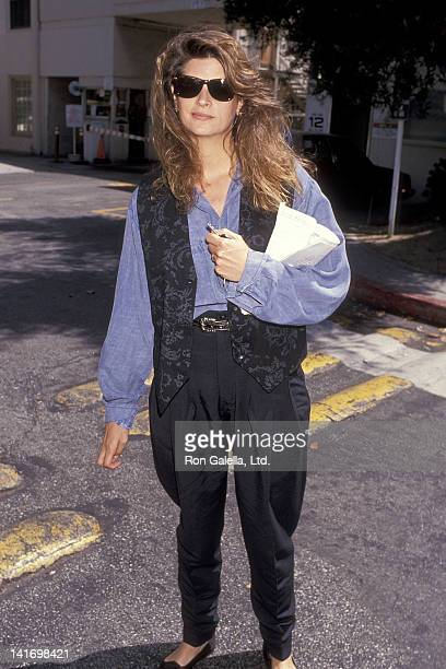 Actress Kirstie Alley attends Press Conference California Against Waste Celebrities Address Environmental Causes on June 24 1989 at Lorimar...
