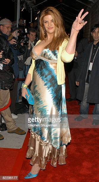 """Actress Kirstie Alley attends Showtime's Premiere of """"Fat Actress"""" at the ArcLight Cinerama Dome on February 23, 2005 in Hollywood, California."""