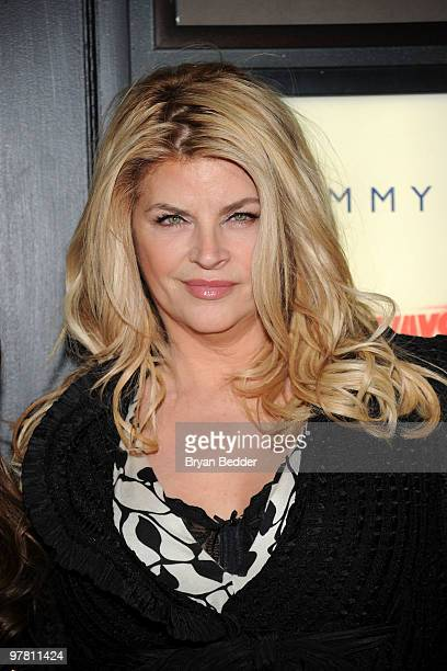 Actress Kirstie Alley attends the premiere of The Runaways at Landmark Sunshine Cinema on March 17 2010 in New York City