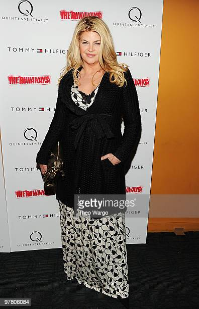 Actress Kirstie Alley attends 'The Runaways' New York premiere at Landmark Sunshine Cinema on March 17 2010 in New York City