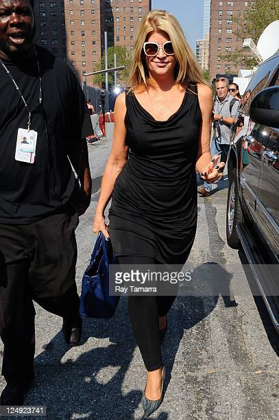 Actress Kirstie Alley enters Fashion Week at Lincoln Center on September 13 2011 in New York City