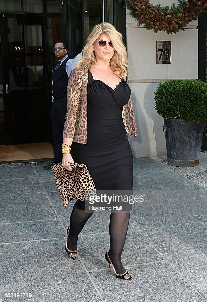 Actress Kirstie Alley is seen in Soho on December 4 2013 in New York City