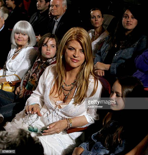 Actress Kirstie Alley is seen in the audience at the American Idol Finale Results Show held at the Kodak Theatre on May 25 2005 in Hollywood...