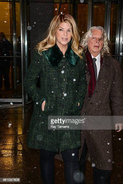 Actress Kirstie Alley leaves the Sirius XM Studios on January 6 2015 in New York City