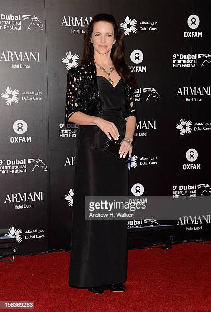 Actress Kirstin Davis attends the 2012 Dubai International Film Festival Dubai Cares and Oxfam 'One Night to Change Lives' Charity Gala at the Armani...
