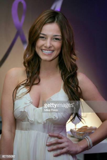 Actress Kirsty Lee Allan attends the official launch of 'Make a Wish with Mariah Carey' at Icebergs on September 10 2008 in Sydney Australia