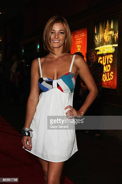 Actress Kirsty Lee Allan attends the Sydney opening night of the new stage production of Guys And Dolls at the Capitol Theatre on March 12 2009 in...