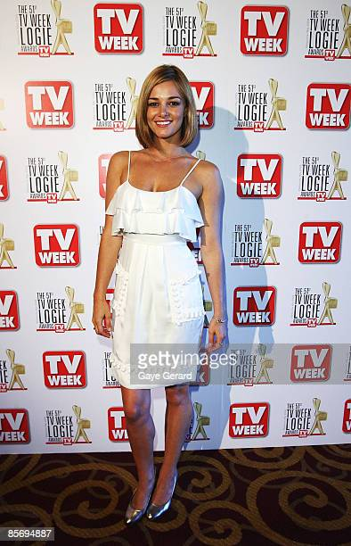 Actress Kirsty Lee Allan poses during the nominations announcement for the 51st TV Week Logie Awards which takes place on May 3 in Melbourne at Hoyts...