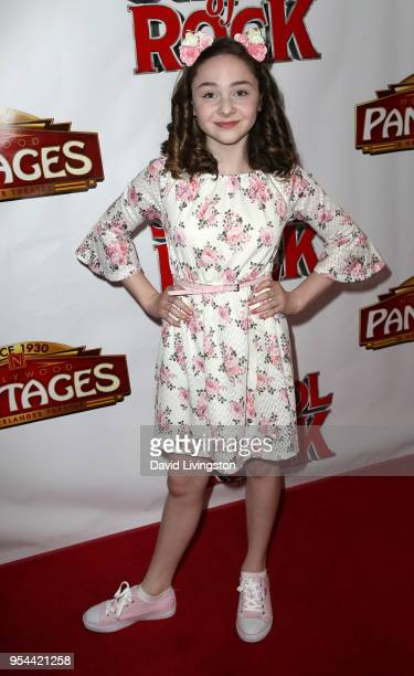 Actress Kitana Turnbull attends the Los Angeles premiere of School of Rock The Musical at the Pantages Theatre on May 3 2018 in Hollywood California