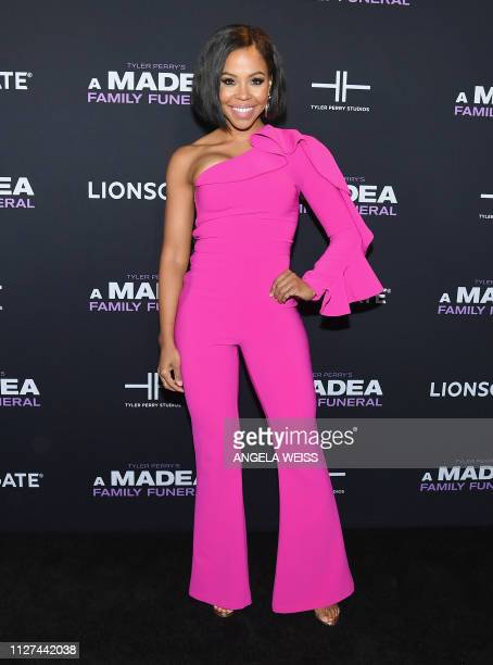 Actress KJ Smith attends the NY special screening for Tyler Perry's 'A Madea Family Funeral' at SVA Theater on February 25 2019 in New York City