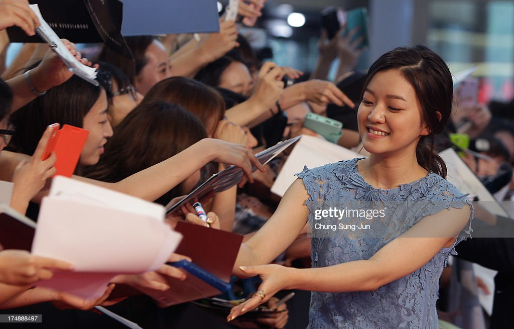 Actress Ko A-Sung attends the 'Snowpiercer' South Korea premiere at Times Square on July 29, 2013 in Seoul, South Korea. The film will open in South Korea on August 1.